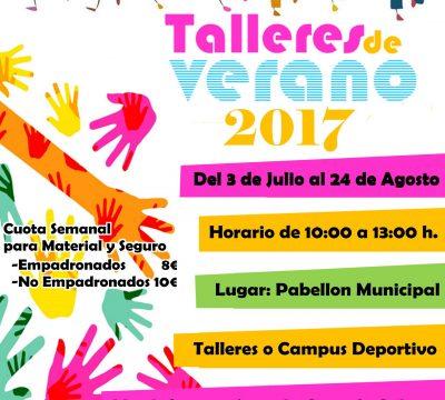 TALLERES DE VERANO 2017