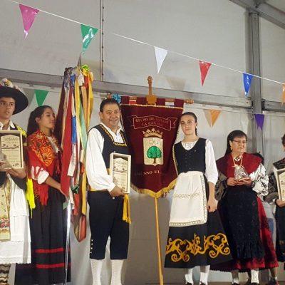Actuación del grupo de Danzas Cañada Real de Fresno el Viejo en Juzbado (Salamanca)