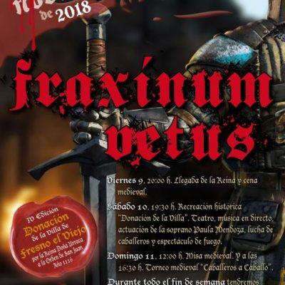 FRAXINUM VETUS. IV Edición Donación de la Villa de Fresno el Viejo