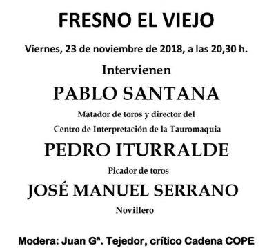 COLOQUIO TAURINO en FRESNO EL VIEJO