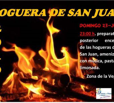 Hoguera de San Juan en Fresno el Viejo