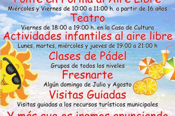 El Ayuntamiento de Fresno el Viejo presenta una serie de actividades alternativas para disfrutar del verano