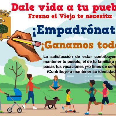 El Ayuntamiento de Fresno el Viejo presenta una campaña de empadronamiento que incluye una línea de ayudas por la natalidad